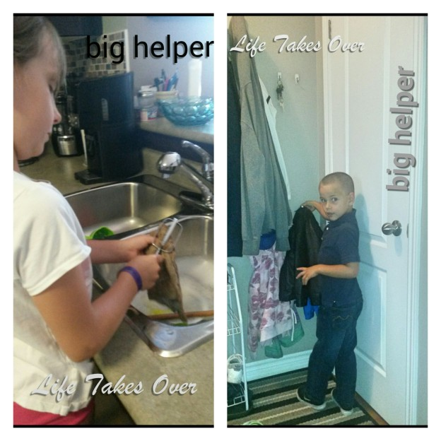 2 kids being helpful